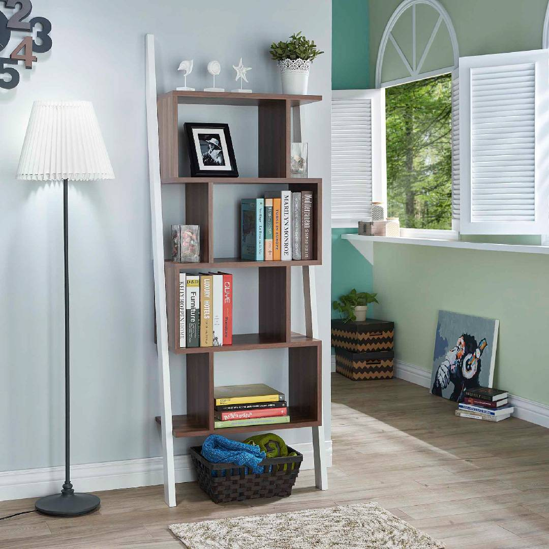 Modern Oblique Tower Display Bookcase Supply One Stop Eco
