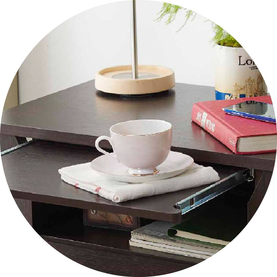 Espresso Laminate 3 Layers Night Stand Supply One Stop