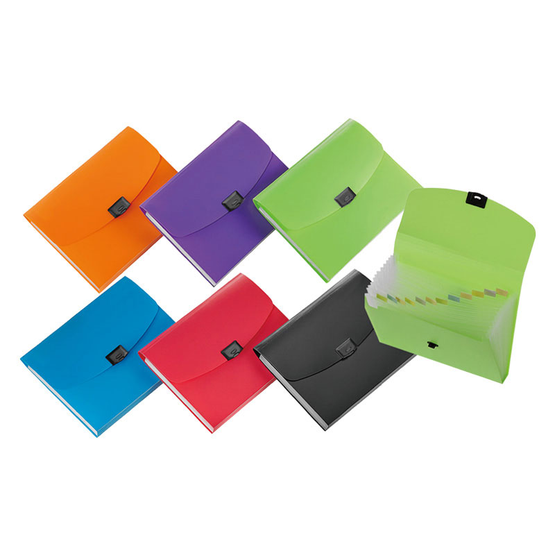 Quick-lock Expanding File - Includes preprinted tab inserts and plastic locking closure.