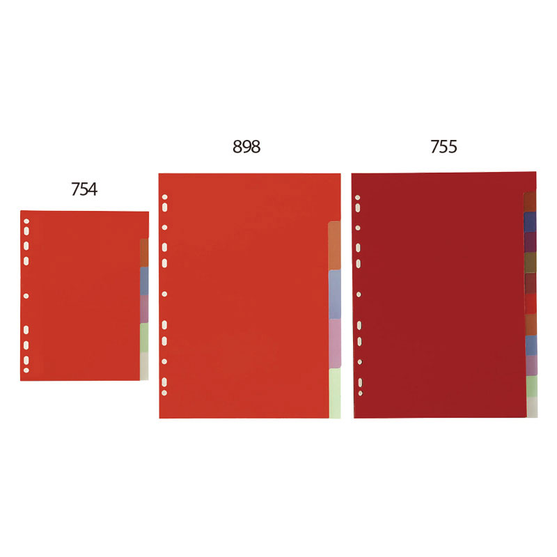 Colored Index Divider - Sturdy dividers that offer more printing space and secure inserts.