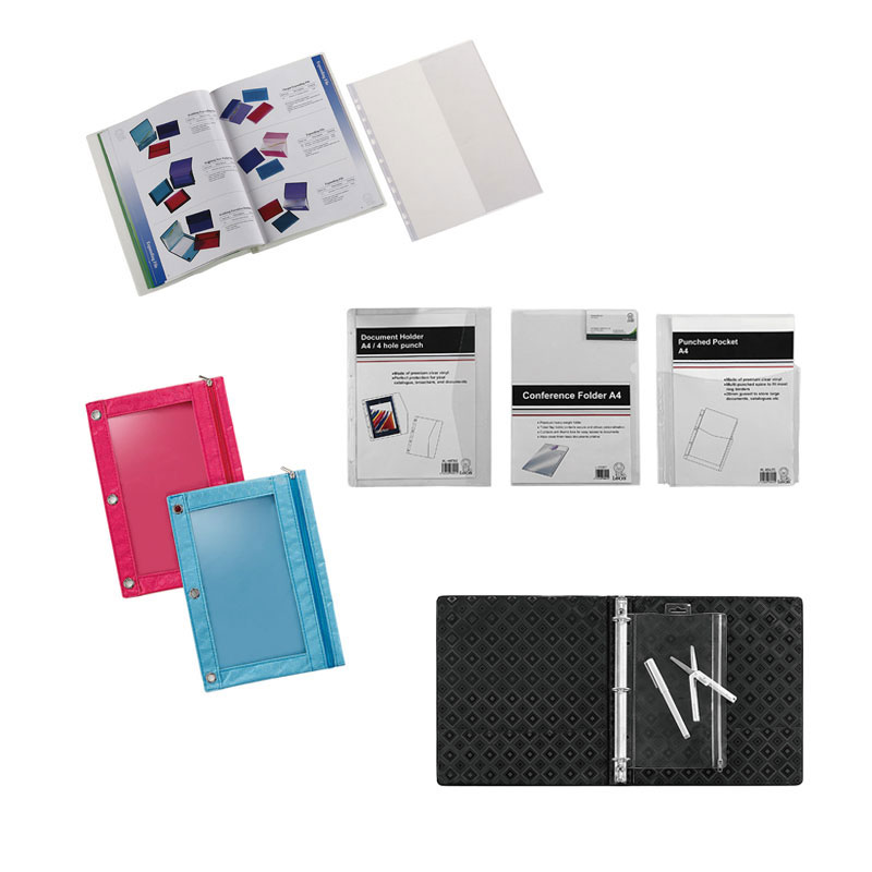 Three-hole punched design allows use in binders of various sizes.