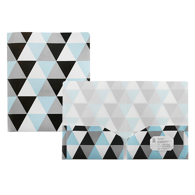 Geometric PP Twin Pocket Folder - Geometric Twin Pocket Folder