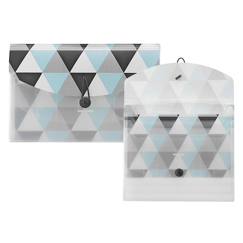 Geometric PP Sliding Pocket Folder - Geometric Sliding Sorter