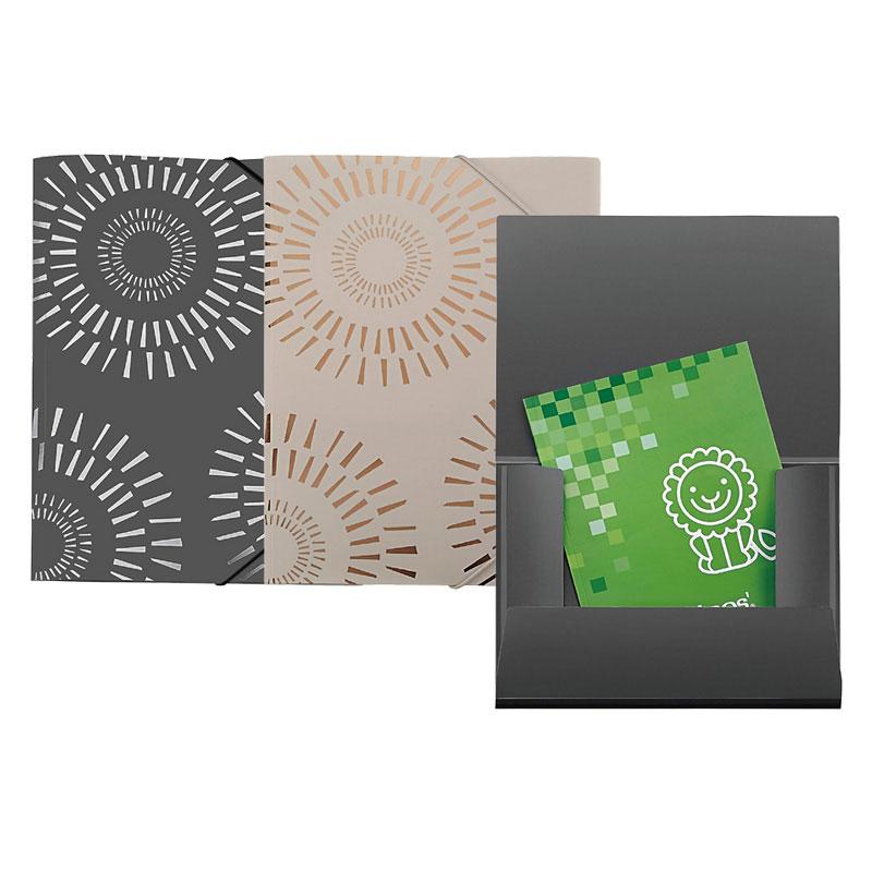Foil Bronzing String Closure PP Flap Folder - Foil Flap Folder