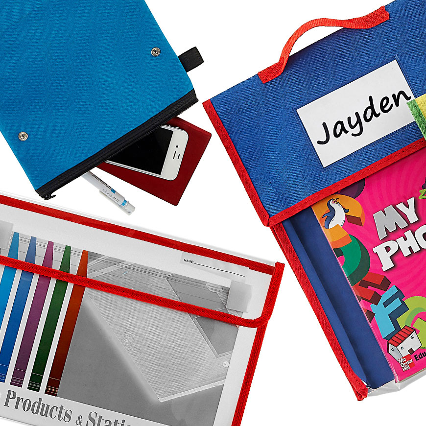 Bags for school and personal use.