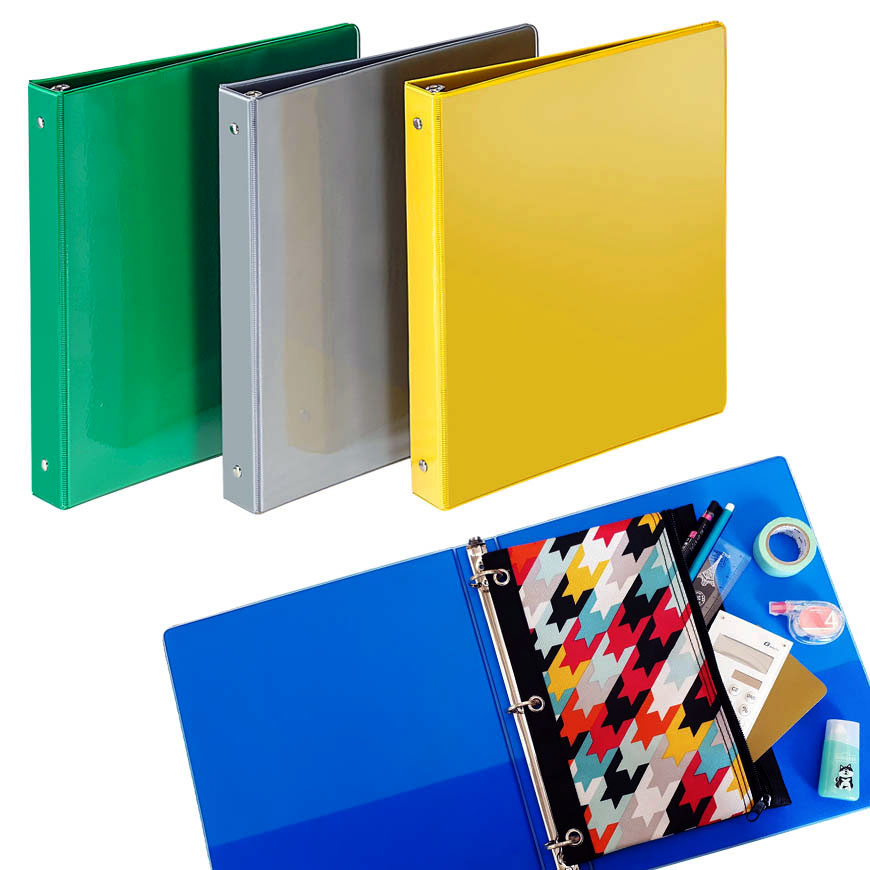Ring binders are large folders to container file folders or hole punched papers.