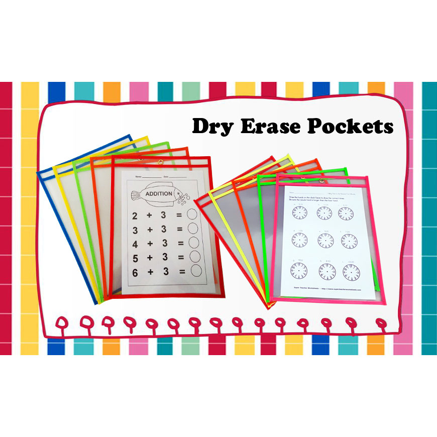 Dry erase pockets - available to multiply using for different users in office, school, factory, and home.