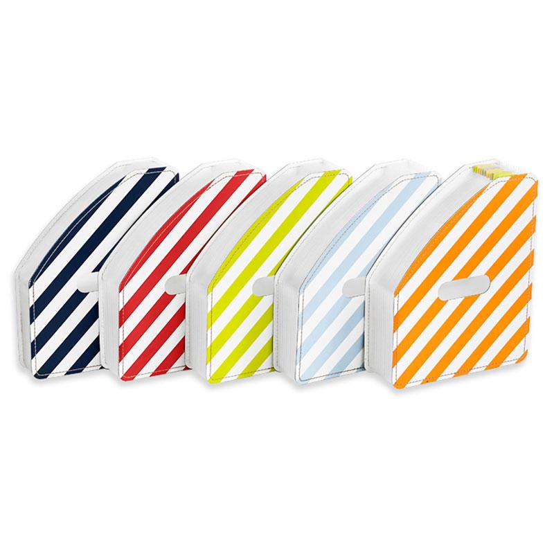 LE Stripe Vertical 13 Pocket Expanding File - LE Stripes Vertical 13 pocket Accordion Expanding File