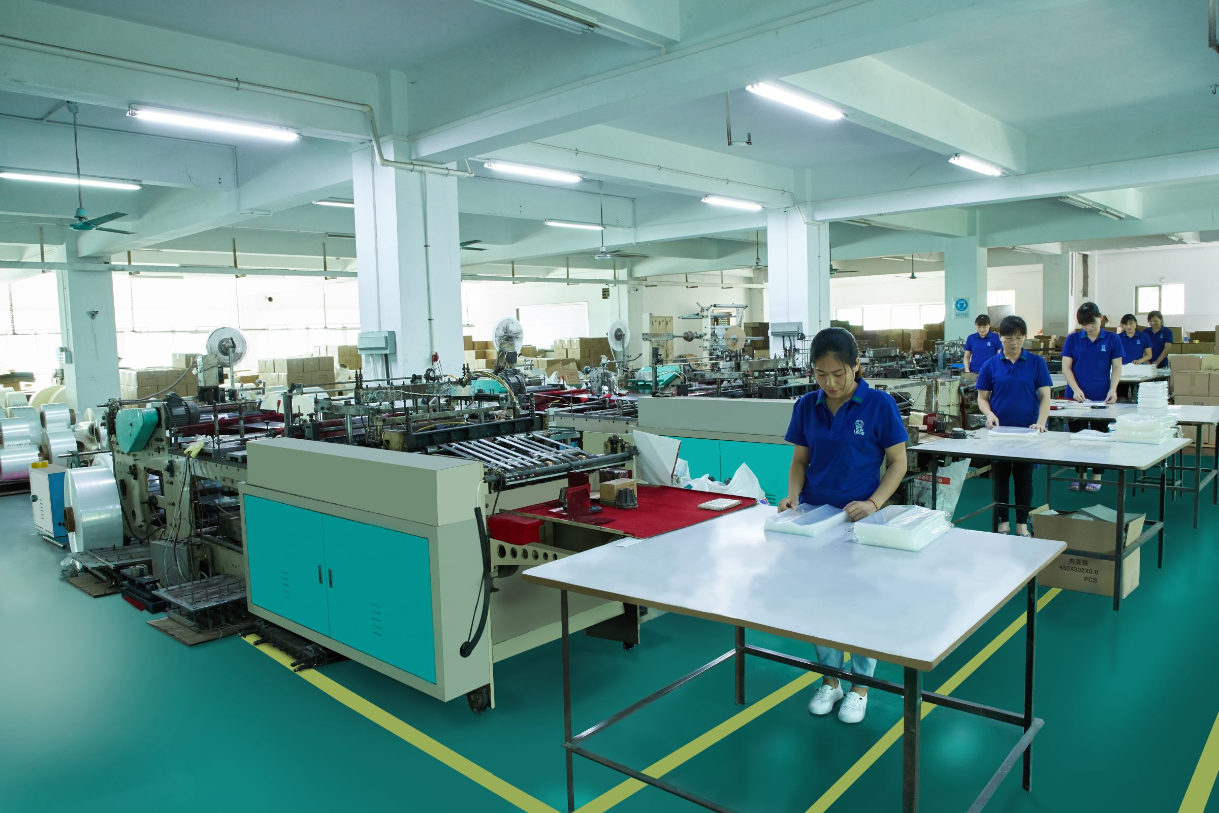 Production site of sheet protectors.