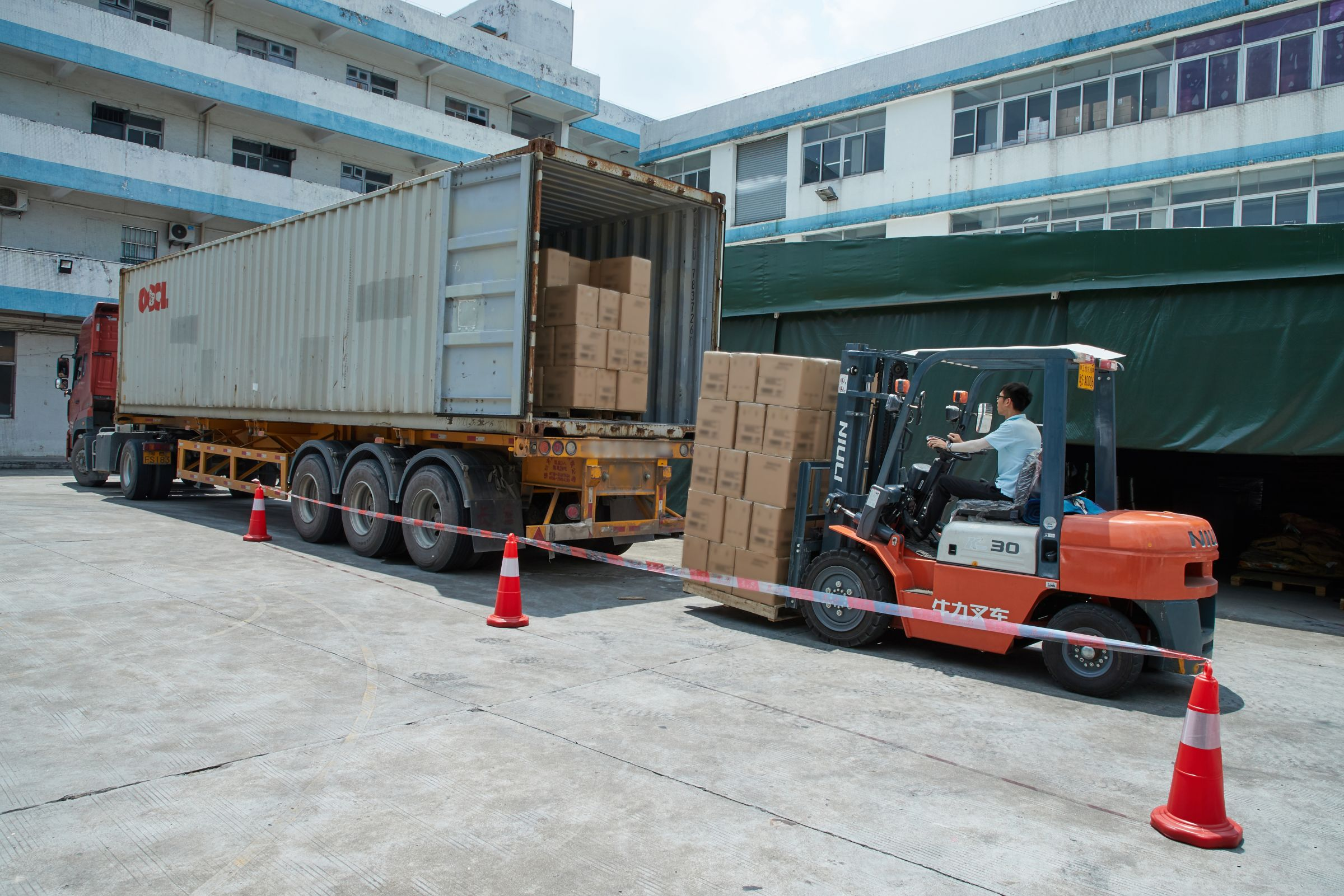 Leos' factory loading operation.