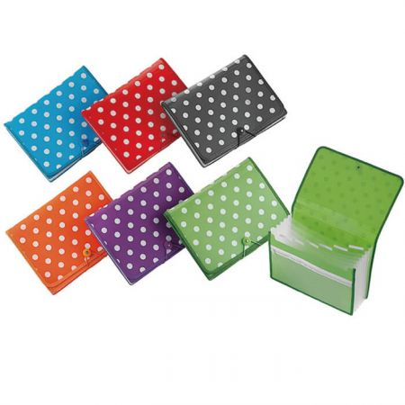 File espandibile desktop Polka Dot serie PP - File espandibile per desktop a pois