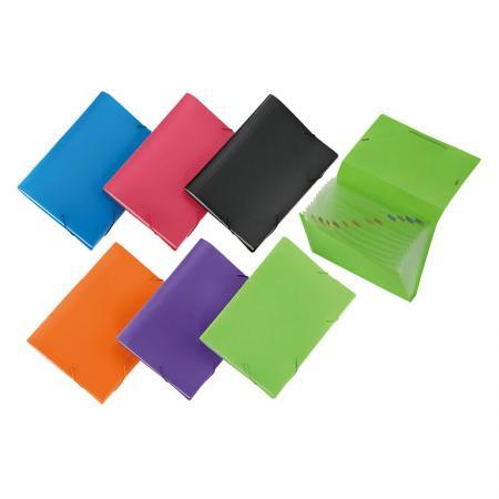 Elastic Band Expanding File - Expanding file folder can store paper, receipt, card, voucher, coupon, etc.