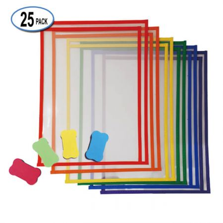 """10""""x13"""" Righ-Loading Dry Erase Pocket - Ridht Side Loading Dry Erase Pockets"""