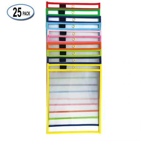 """10""""x14"""" Erase Dry Pocket with Holder - By using our Dry Erase Pockets you ELIMINATE the need to print out multiple copies."""