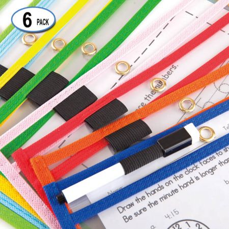 """9""""x12"""" Dry Erase Sleeve - The dry erase pocket sleeve is made with high-grade plastic and double sewn edges"""