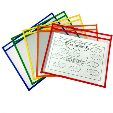 Horizontal Dry Erase Pocket - Horizontal Non-Woven Edge Dry Erase Pockets.