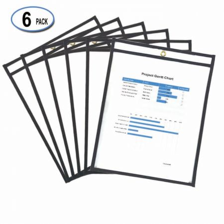 "8.5""x11"" Colorful Dry Erase Pocket - PVC Dry Erase Pockets"