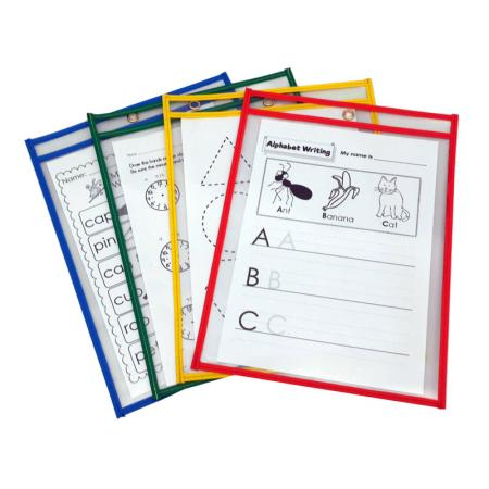 PVC Edge Dry Erase Pocket - Vinyl (PVC) Edge Dry Erase Pockets.