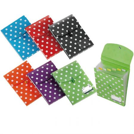 Polka Dot Series PP Vertical Expanding File