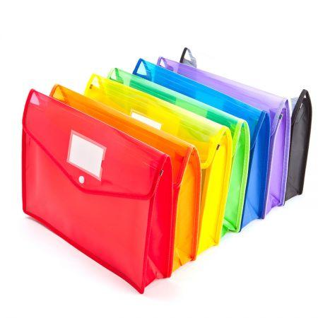 การขยายไฟล์ Wallet - กระเป๋าใส่เอกสารแบบขยายได้ทำจากวัสดุ PP ที่ทนทาน ป้องกันการฉีกขาดและกันน้ำ ไม่มีกลิ่น และวัสดุปลอดสารพิษ ฝาปิดแบบยืดหยุ่นพร้อมปุ่มปิดเปิด/ปิดได้ง่าย และช่วยให้เนื้อหาปลอดภัย หัวเข็มขัดเสริมโลหะที่มุมทั้งสี่ให้การป้องกันที่แข็งแกร่งและพื้นผิวโปร่งใสช่วยให้มองเห็นเนื้อหาและระบุตัวตนได้ง่าย