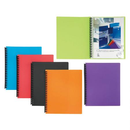 Refillable Display Book - Files protector with clear view to find the files easily.