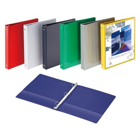 Vinyl View Binder - Outside pockets for individual design.
