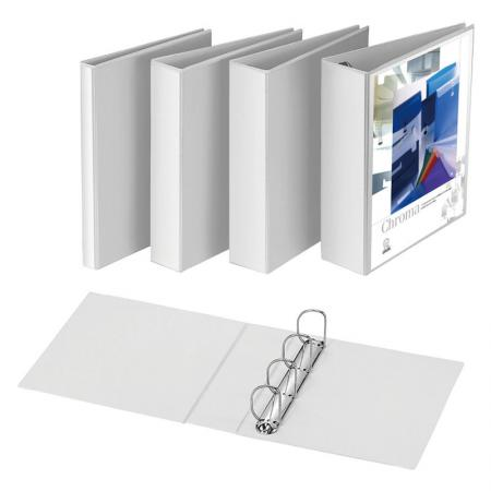 Vinyl View D-Ring Binder - D-ring mechanism holds 25% more material than comparable O-ring binders.