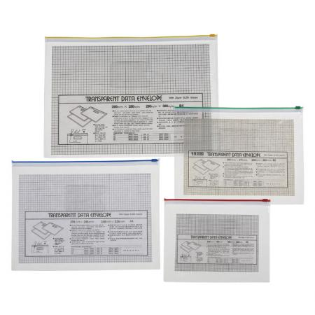 Transparent Zip Bag - The file bag can only store A4 size or smaller paper.