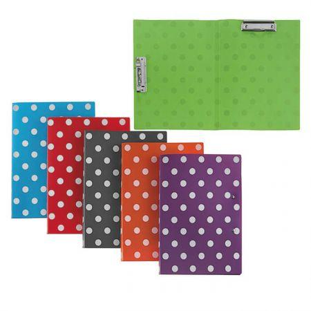 PP Double Clip Folder - Polka Dot Twin Clip Folder