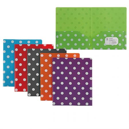 PP Twin Pocket Folder - Polka Dot Twin Pocket Folder