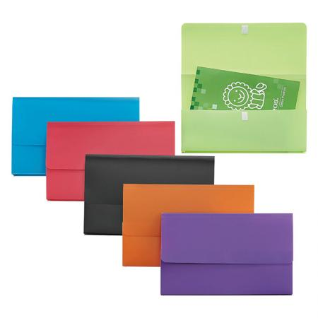 Document Wallet Velcro Fastener - Tough wallet files made from durable polypropylene.
