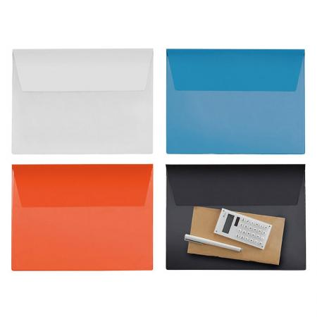 Vinyl Carry Folder - Clear front pocket to easy see-through the contents.