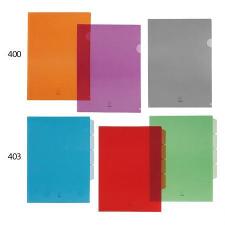 E310 Clear PP L Shape Folder - L shape welding colored folder for easy reviewing.