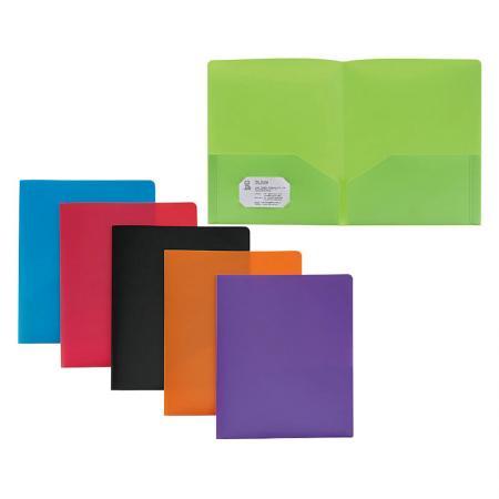 Two-Pocket Folder - Two internal storage pocket for dual size.
