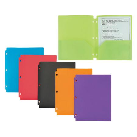 Twin-Pocket Snap Folder - Durable poly material is tear proof and water resistant.