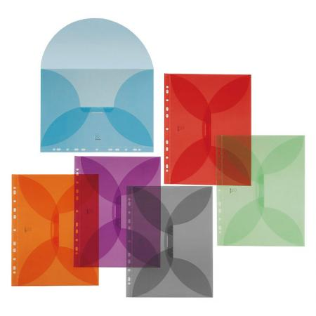 Butterfly Flap Folder - Universal holes punch for 2, 3, and 4 ring binders.