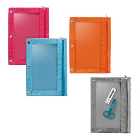 Nylon Binder Pouch - Zip closure to secure your belongings.