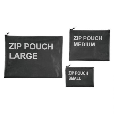 Pochette nera con zip