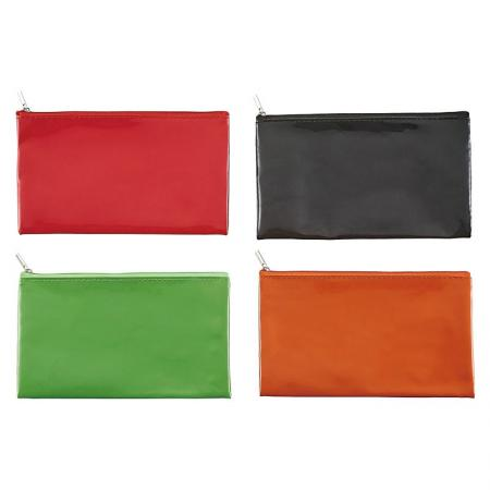 PU Pencil Pouch - Zipper pencil pouches are made of waterproof soft PU leather.