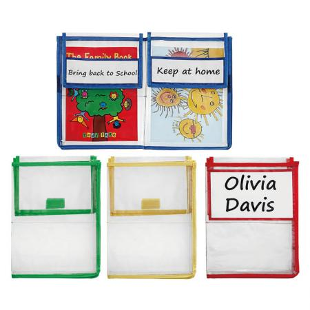 Home School Folder - Send home books, assignments and more in sturdy book pouches. Keep papers and books safe.