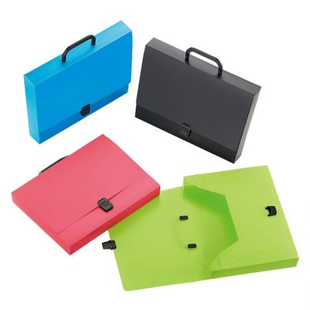 Document Case with Handle - Strong touch lock flap keeps contents safely and securely.