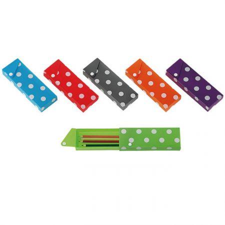 PP Slider Pencil Case - Polka Dot Pencil Case
