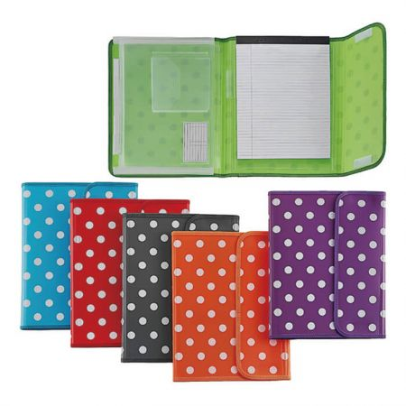 Polka Dot Series PP Executive Portfolio with notepad - Polka Dot Executive Portfolio