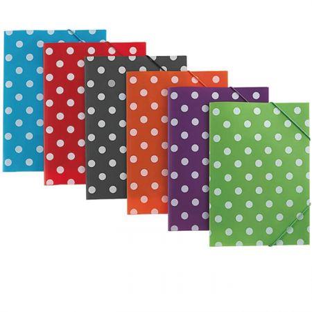 PP 3 Flap Folder - Polka Dot 3 Flap Folder