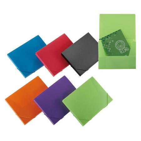 Elastic Closure Document Case - 3 flap construction for access documents quickly.