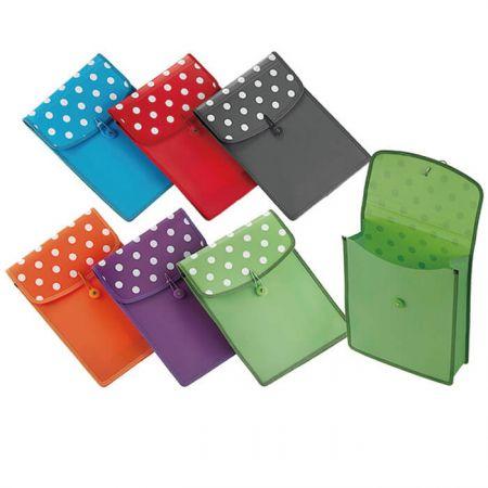PP Vertical Pocket File - Polka Dot Vertical Pocket File