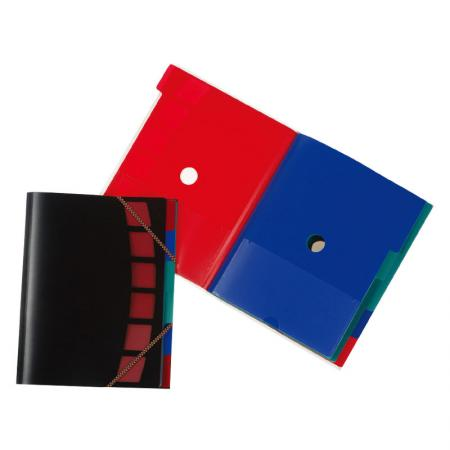 Pocket Sorter - La chiusura con cordino elastico protegge i documenti all'interno.