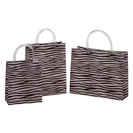 Zebra Gift Bag - Unique black and white zebra design.