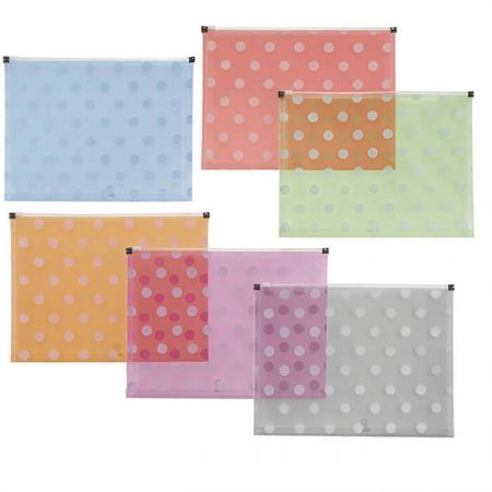 Polka Dot PP Zipper Bag - Polka Dot Zipper Bag