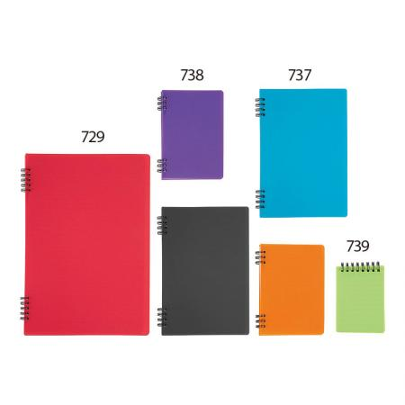 Spiral Notebook - Spiral Lock wire prevents coil snags.
